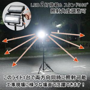 LED投光器 100W AC100V  led作業灯 三脚スタンド式 投光器 移動式 防雨型 角度調整自由 工事現場 照明 工場 倉庫 工事現場 一年保証 LD-01ZJ goodgoods-1 06