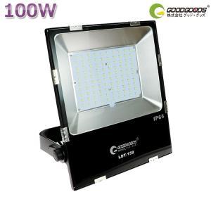 LED 投光器 100W 1000W相当 16000lm 投光器 屋外用 薄型 広角160° 防水 作業灯 工場 倉庫 駐車場灯 看板用 スポットライト グッドグッズ LDT-160|goodgoods-1