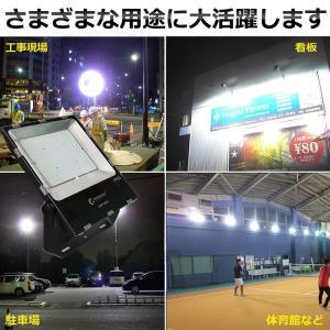 LED投光器 200W 2000W相当 薄型 投光器 屋外 防水 28000lm 大型LED投光器 看板灯 作業灯 集魚灯 工場led照明 一年保証 GOODGOODS goodgoods-1 06