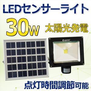LED投光器 30W 300W相当 センサーライト ソーラーライト 人感 ガーデンライト 玄関灯 駐...