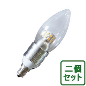 2個セット LED電球 シャンデリア球 広角 E12/E17/E26選択 クリア 4W 25w形相当 325LM LED球 電球色 調光器具対応 TS12-DQ GOODGOODS|goodgoods-1