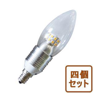 5個セット LED電球 シャンデリア球 広角 E12/E17/E26選択 クリア 4W 25w形相当 325LM LED球 電球色 調光器具対応 TS12-DQ GOODGOODS|goodgoods-1
