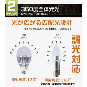 ポイント5倍 新生活 LED電球 シャンデリア球 広角 E12/E17/E26選択 クリア 4W 25w形相当 325LM LED球 電球色 調光器具対応 GOODGOODS goodgoods-1 03