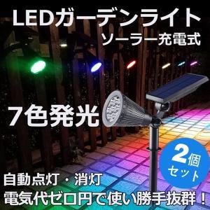 商品仕様  商品名:ソーラーLEDガーデンライト(7色発光) 商品状態:新品&未使用 商品番号:TY...