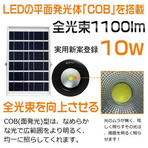 LED投光器 10w ソーラーライト 電池切替可能  18650充電池 看板照明 駐車場灯 防災グッズ 防犯灯 地震・災害対策 TYH-09|goodgoods-1|02