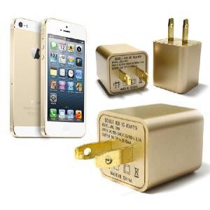 10個セット iPhone5/5s/5cUSB ACアダプター 電源充電器 2ポート搭載|goodgoods-2