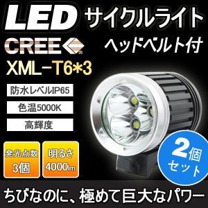 2個セット 一年保証 LEDサイクルライト 懐中電灯 CREE 4000LM 充電式 強力 ハンデイライト 登山 夜釣り 自転車ライト 防災グッズ 地震対策 goodgoods-2