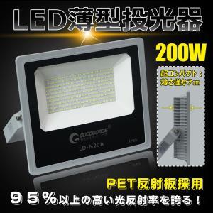 【商品情報】 LED投光器 品番:LD-N20A 効率:200W 周波数:50/60Hz兼用 入力電...