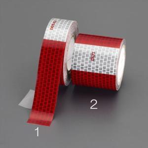 ESCO50mmx 3 m ハイレベル反射テープ(赤/白)[EA983GR-2]|goodjobtools