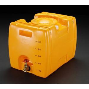 ESCO100L ポリエチレン給水容器(バルブ付)[EA991AB-1]|goodjobtools