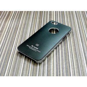 iphone5S/5用ケース/ハードカバー/アルミパネル/黒|goodlife