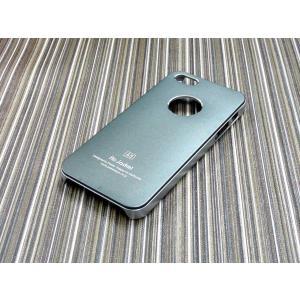 iphone5S/5用ケース/ハードカバー/アルミパネル/グレー|goodlife