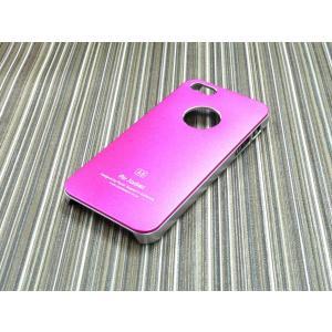 iphone5S/5用ケース/ハードカバー/アルミパネル/ピンク|goodlife