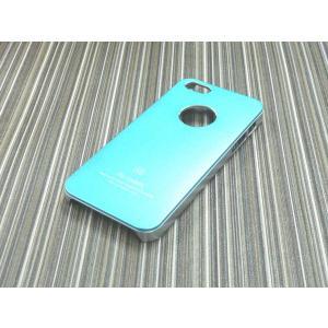 iphone5S/5用ケース/ハードカバー/アルミパネル/青|goodlife