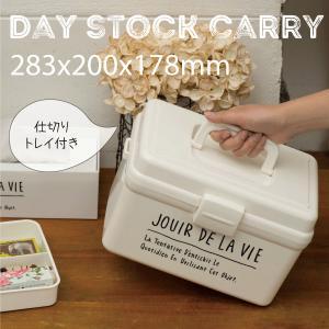 キャッシュレス還元対象 日本製 ハンドル付 道具箱 DAYS STOCK キャリー 収納BOX トレ...