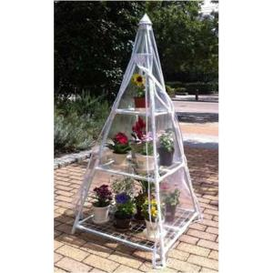 フラワーラック ピラミッド おしゃれなツリー型の組立式簡易温室|goodlifeshop