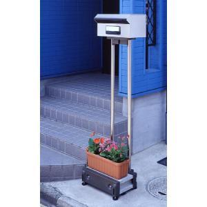 郵便受けが自由に設置できるポストスタンド ●壁や地面の穴がなくても自立してポストが立てられる ●ポス...