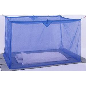 麻混素材 寝室用かや(片麻 ブルー) 4.5畳サイズ※【メーカー直送品】【代引/同梱/返品不可】【個別送料計算】|goodlifeshop