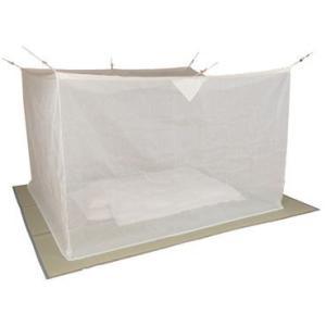 麻混素材 寝室用かや(片麻 生成り) 4.5畳サイズ※【メーカー直送品】【代引/同梱/返品不可】【個別送料計算】|goodlifeshop