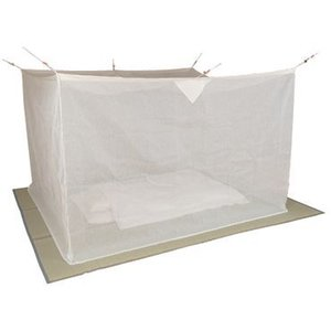 麻混素材 寝室用かや(片麻 生成り) 6畳サイズ※【メーカー直送品】【代引/同梱/返品不可】【個別送料計算】|goodlifeshop