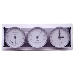 ★廃番完売★アナログ3連時計付き温湿度計(置きタイプ) タニタ|goodlifeshop