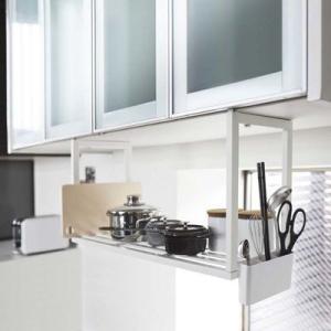 キャッシュレス還元対象 PLATE 戸棚下 収納シェルフ プレート ホワイト キッチン 吊り下げ式 収納 棚 ラック KT-PL BP WH 3531|goodlifeshop