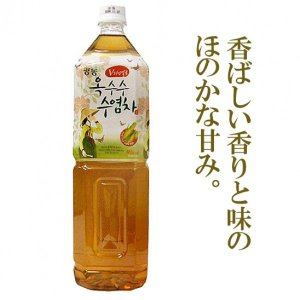 *韓国食品*トウモロコシの香を楽しめながらどうぞ! グァンドン トウモロコシひげ茶 1.5L goodmall-japan