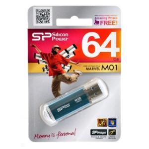 USB SP064GBUF3M01V1B(高速!USB3.0対応メモリ64GB・シリコンパワー永久保証)