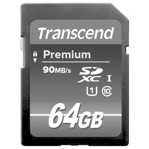 トランセンド64GB【SDXCカードTS64GSDU1】UHS-1・Class10・最大R=90MB...