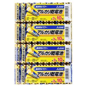 アルカリ乾電池40本セット【三菱単3電池LR6N/10S x...