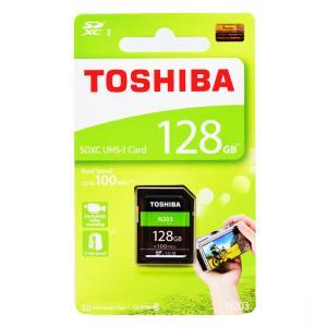東芝128GB高速【SDXCカードTHN-N203N1280A4】UHS-1・Class10・R=1...