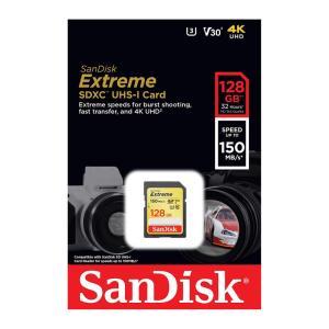 サンディスクExtreme 128GB【SDXCカードSDSDXV5-128G-GNCIN】最大R=150MB/s・V30・UHS-I U3・Class10・4K|goodmedia-wholesale