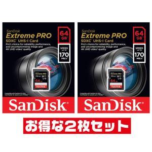 サンディスクExtreme Pro 64GB【SDXCカードSDSDXXY-064G-GN4IN x...
