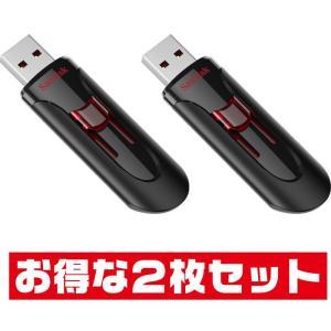 サンディスクCruzer Glide・128GB【USBメモリSDCZ600-128G-G35 x2...