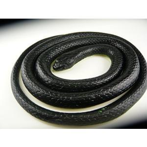 いたずらグッズ  へび 蛇 ヘビ とぐろへび 黒  おもちゃ  ゴム製 17×16cm