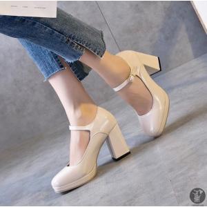 ストラップパンプス ハイヒール エナメル レディース シューズ ヒール パンプス 婦人靴 無地 レディースシューズ OL靴 オフィス シンプル goodplus