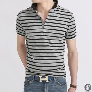 POLOシャツ ポロシャツ 半袖 ボーダー Tシャツメンズ 半袖tシャツ 春服 春 トップス きれいめ インナー カットソー 代引不可|goodplus