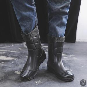 メンズレインブーツ ショート 保温 綿付き レインシューズ レイングッズ シューズ 紳士靴 雨靴 防水 滑り止め 歩きやす 疲れにくい 履きやすい|goodplus