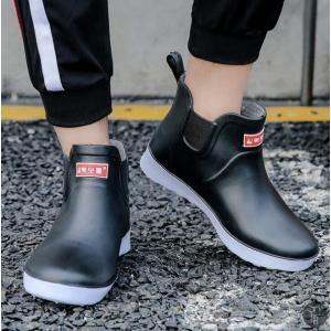 レインブーツ メンズ 紳士靴 ショート 軽い 軽量 レインシューズ レイングッズ 雨靴 シューズ 靴 防水 滑り止め 歩きやすい 履きやすい|goodplus