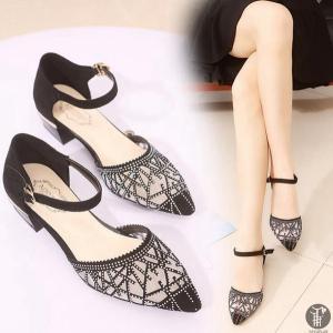 サンダル ハイヒール パンプス レディース シューズ オープントゥ 透かし彫り チュール 婦人靴 歩きやすい レディースシューズ 靴|goodplus