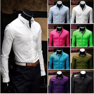 シャツ メンズ 長袖 ワイシャツ Yシャツ 春 夏 長袖シャツ トップス カジュアルシャツ コットン ビジネス フォーマル シンプル おしゃれ キレイめ 無地|goodplus