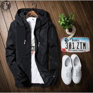 パーカー ウインドブレーカー ジャケット メンズ コート フード付き ブルゾン 長袖コート メンズジャケット コーチジャケット カジュアル 無地|goodplus