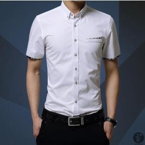 シャツ ワイシャツ Yシャツ メンズ 半袖 ボタンダウン 無地 トップス 薄手 カジュアルシャツ 代引不可|goodplus