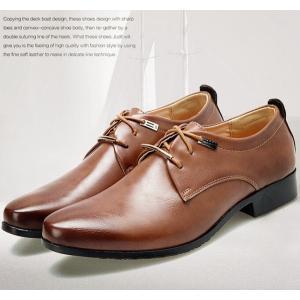 革靴 ビジネスシューズ 新生活 紳士靴 フォーマル 紐 軽量 通勤 通学 結婚式 仕事用 レースアップ ブラウン ブラック|goodplus