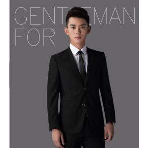 スーツ メンズ メンズスーツ 2ツボタン ビジネススーツ  黒系 スリム 大きいサイズ ジャケット スラックス スリムスーツ suit 秋冬|goodplus