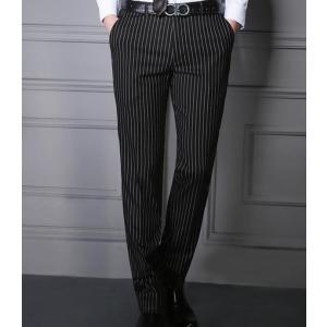 ウォッシャブル スラックス メンズ ストライプ ビジネススラックス メンズ 大きいサイズ 春 秋 スラックスパンツ スラックス 洗える メンズスラックス|goodplus