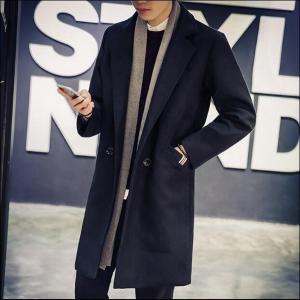 ロングコート チェスターコート テーラードジャケット アウター メンズファッション 羽織 長袖 コーデ きれいめ 着こなし 黒|goodplus