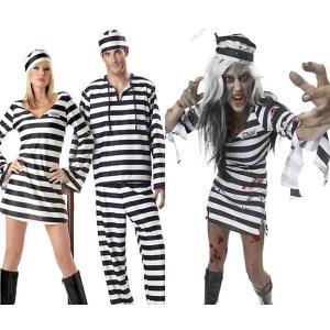 ハロウィン コスチューム コスプレ ボーダー 帽子つき コスプレ衣装 犯人 囚人 吸血鬼 衣装 ペアルック カップル バンパイア デビル 悪魔 魔女 花嫁|goodplus