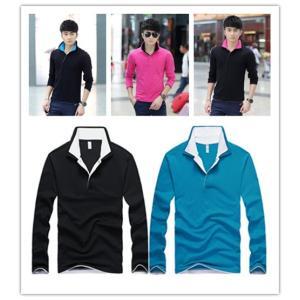 長袖ポロシャツ メンズ ポロシャツ ポロ 長袖 ストリートファッション polo shirt Mens キレイ目 ロンT Tシャツ シャツ shirt アメカジ ロング|goodplus