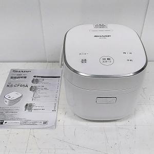 シャープ SHARP KS-CF05A-W 炊飯器 ホワイト系 [マイコン /3合] 自社配達対応東京23区・千葉一部地域|goodrecyclenetshop